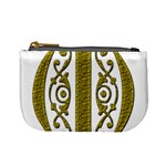 Gold Scroll Design Ornate Ornament Mini Coin Purses Front