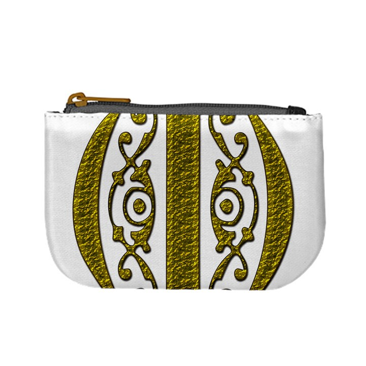 Gold Scroll Design Ornate Ornament Mini Coin Purses
