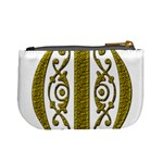 Gold Scroll Design Ornate Ornament Mini Coin Purses Back