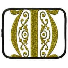 Gold Scroll Design Ornate Ornament Netbook Case (XXL)