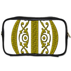 Gold Scroll Design Ornate Ornament Toiletries Bags 2 Side