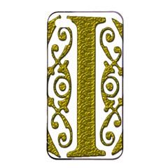Gold Scroll Design Ornate Ornament Apple Iphone 4/4s Seamless Case (black)
