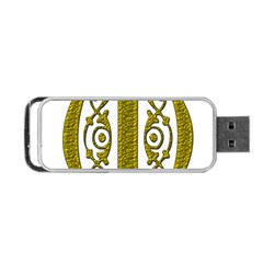 Gold Scroll Design Ornate Ornament Portable Usb Flash (one Side)