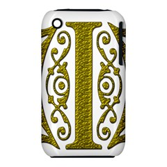 Gold Scroll Design Ornate Ornament Iphone 3s/3gs