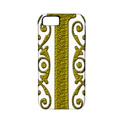 Gold Scroll Design Ornate Ornament Apple Iphone 5 Classic Hardshell Case (pc+silicone)