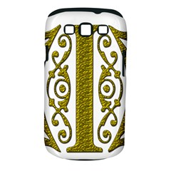 Gold Scroll Design Ornate Ornament Samsung Galaxy S Iii Classic Hardshell Case (pc+silicone)