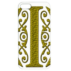 Gold Scroll Design Ornate Ornament Apple Iphone 5 Hardshell Case With Stand