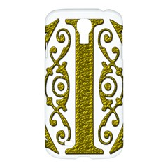 Gold Scroll Design Ornate Ornament Samsung Galaxy S4 I9500/i9505 Hardshell Case