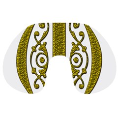 Gold Scroll Design Ornate Ornament Travel Neck Pillows