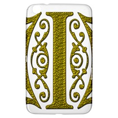 Gold Scroll Design Ornate Ornament Samsung Galaxy Tab 3 (8 ) T3100 Hardshell Case