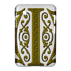 Gold Scroll Design Ornate Ornament Samsung Galaxy Tab 2 (7 ) P3100 Hardshell Case