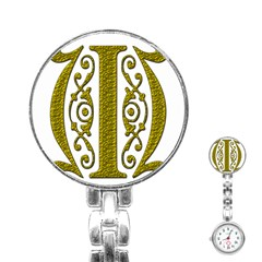 Gold Scroll Design Ornate Ornament Stainless Steel Nurses Watch