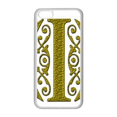 Gold Scroll Design Ornate Ornament Apple Iphone 5c Seamless Case (white)