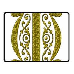 Gold Scroll Design Ornate Ornament Double Sided Fleece Blanket (Small)