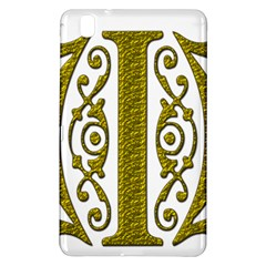 Gold Scroll Design Ornate Ornament Samsung Galaxy Tab Pro 8 4 Hardshell Case