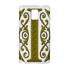 Gold Scroll Design Ornate Ornament Samsung Galaxy Note 4 Hardshell Case