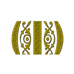 Gold Scroll Design Ornate Ornament Satin Wrap