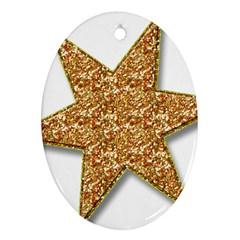 Star Glitter Ornament (Oval)