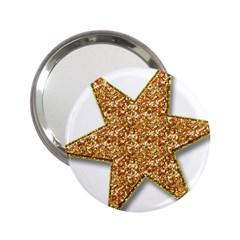 Star Glitter 2.25  Handbag Mirrors