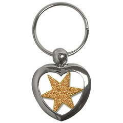 Star Glitter Key Chains (Heart)
