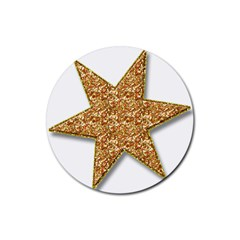 Star Glitter Rubber Coaster (round)