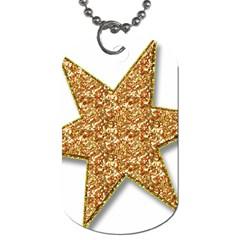 Star Glitter Dog Tag (one Side)