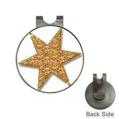 Star Glitter Hat Clips With Golf Markers