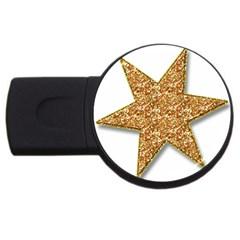 Star Glitter Usb Flash Drive Round (4 Gb)