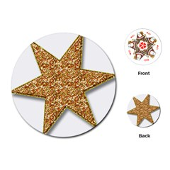 Star Glitter Playing Cards (round)