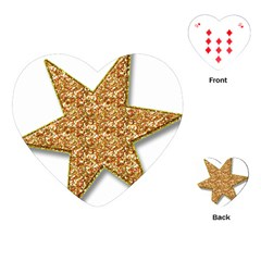 Star Glitter Playing Cards (Heart)