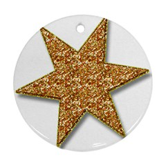 Star Glitter Round Ornament (two Sides)