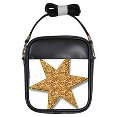 Star Glitter Girls Sling Bags