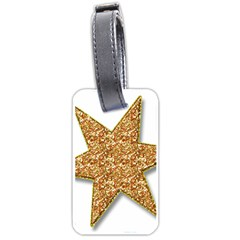 Star Glitter Luggage Tags (One Side)