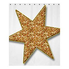 Star Glitter Shower Curtain 60  x 72  (Medium)