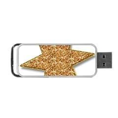 Star Glitter Portable Usb Flash (one Side)