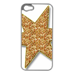Star Glitter Apple Iphone 5 Case (silver)