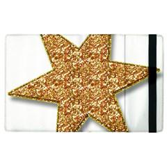 Star Glitter Apple iPad 3/4 Flip Case