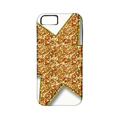 Star Glitter Apple iPhone 5 Classic Hardshell Case (PC+Silicone)