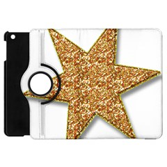 Star Glitter Apple iPad Mini Flip 360 Case