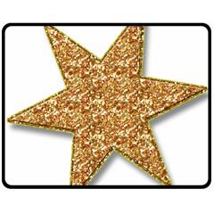 Star Glitter Double Sided Fleece Blanket (medium)
