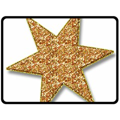 Star Glitter Double Sided Fleece Blanket (Large)