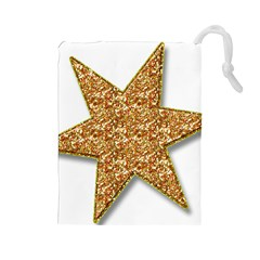 Star Glitter Drawstring Pouches (large)