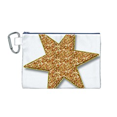 Star Glitter Canvas Cosmetic Bag (m)