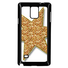 Star Glitter Samsung Galaxy Note 4 Case (black)