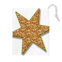 Star Glitter Drawstring Pouches (Extra Large)