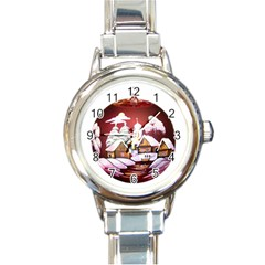 Christmas Decor Christmas Ornaments Round Italian Charm Watch