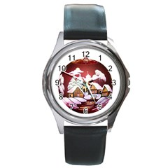 Christmas Decor Christmas Ornaments Round Metal Watch