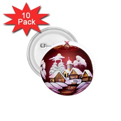 Christmas Decor Christmas Ornaments 1 75  Buttons (10 Pack)