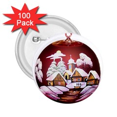 Christmas Decor Christmas Ornaments 2.25  Buttons (100 pack)
