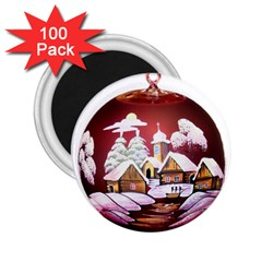 Christmas Decor Christmas Ornaments 2.25  Magnets (100 pack)